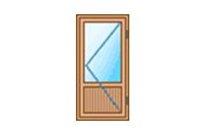 Просчет стоимости балконной двери из дерева - цены в киеве.
